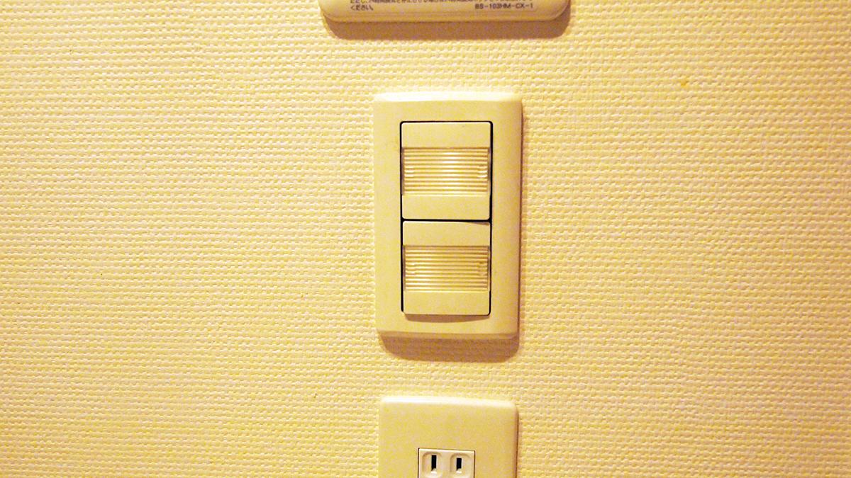 わかりにくいUI:風呂場の電気スイッチ